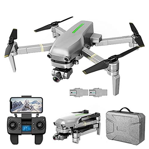 XIAOKEKE Drone GPS con Telecamera 4K HD, Drone Pieghevole 5Ghz WiFi FPV Quadcopter, Drone RC con Camera Professionale, Follow Me, modalità Senza Testa (2 Batterie)