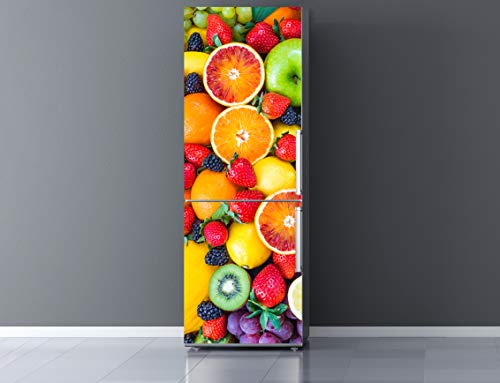 Oedim Vinilo para Frigorífico Frutas 185x70cm | Adhesivo Resistente y Económico | Pegatina Adhesiva Decorativa de Diseño Elegante
