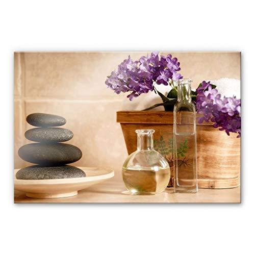 Plexiglas Schilderij Wellness | Acrylglas Wanddecoratie | 120x75 cm (bxh) | Ook Geschikt voor Buiten als Tuinschilderij