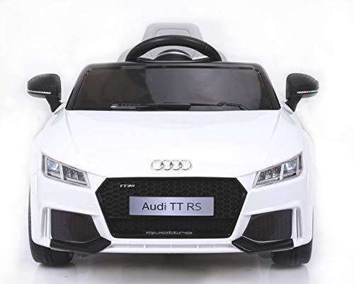RIRICAR Kinder Elektroauto, Audi TT RS, Weiss, 1 Sitzer, 2.4 Ghz Fernbedienung, 24 Monate - 5 Jahre, Batterie 12V - 4AH