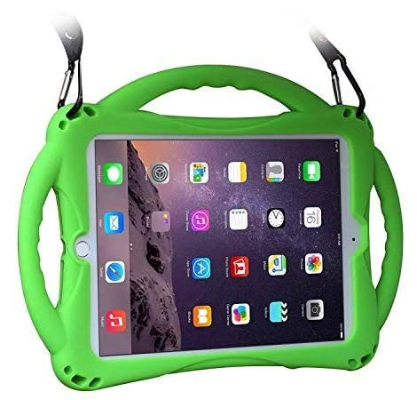 Kids Case for iPad 9.7'and iPad Air1/2, TopEsct Shockproof Silicone Handle Stand Case Compatible with iPad 6th/5th 9.7inch(2017&2018 Version), iPad Air, iPad Air 2 and iPad Pro 9.7(iPad 9.7, Green)