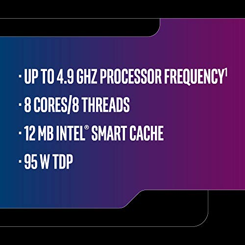 Intel Core i7-9700K Desktop Processor 8 Core   s up to 4.9 GHz Turbo unlocked LGA1151 300 Series 95W