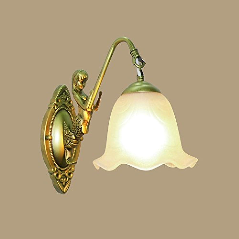 Yyhaoge Kopf einzelne Wandleuchte, Schlafzimmer, Wohnzimmer, TV-Wand, Lampe Beleuchtung, Spiegel, Flutlicht, Lampe-Spur G Mermaid