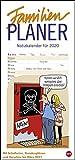Butschkow Familienplaner. Wandkalender 2020. Monatskalendarium. Spiralbindung. Format 21 x 45 cm
