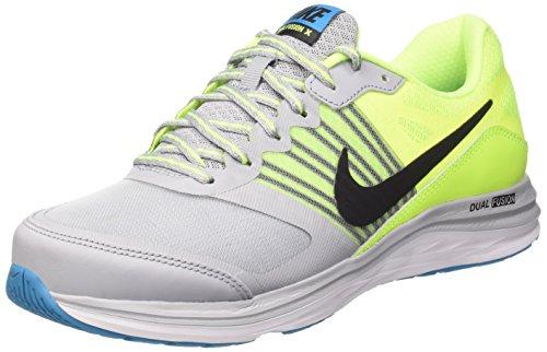 Nike Dual Fusion X, Zapatillas para Hombre, Gris (Wolf Grey/Black Volt Bl Lagoon), 43 EU