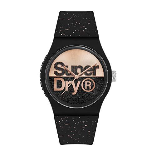Superdry Damen Analog Quarz Uhr mit Silicone Armband SYL273B