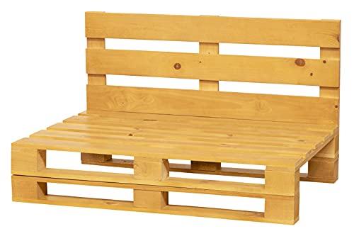Sofa DE PALETS Lijado Y Cepillado - Interior/Exterior Nuevo Sillon PALETS/Sofa para Patio (120cm X 80cm, Roble)