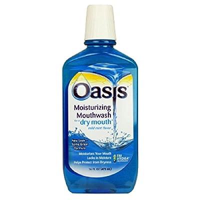 Oasis Moisturizing Mouthwash, For A Dry Mouth, Mild Mint, 16 Fl oz (473 ml) ( Value Pack of 3)