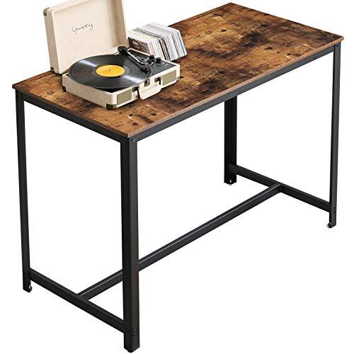 YMYNY Bartisch Industriedesign, Küchentisch für 4 Personen, Bistrotisch Stehtisch Esstisch, einfache Montage, für Bars, Wohnzimmer, Esszimmer, Vintagebraun HTMJ013H