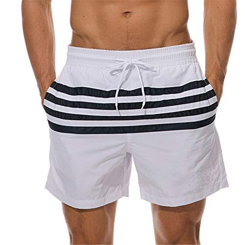 Shorts De Verano De 5 Puntos para Hombre Pantalones De Playa con Cordón Elástico Pantalones Impermeables Y De Secado Rápido con Bolsillos para Mayor Comodidad Y Transpirabilidad