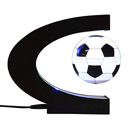 LMCLJJ Absendern Schwebender Globus mit LED-Leuchten C Magnetic Levitation Schwebender Globus Weltkarte for Schreibtisch-Dekoration-Form