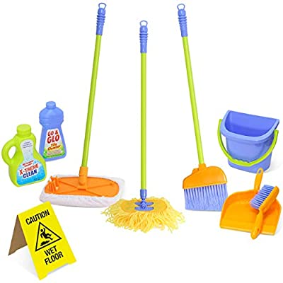 Kidzlane Kids Cleaning Set for Toddlers Up to Age 4. Includes 6 Cleaning Toys + Housekeeping Accessories. Hours of Fun & Pretend Play! by Kidzlane