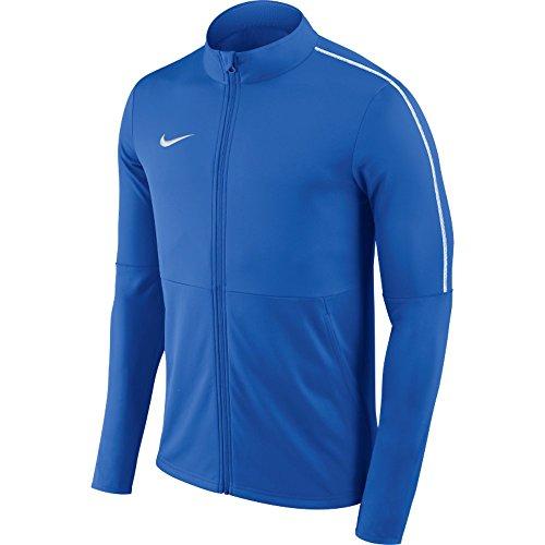 Nike M NK DRY PARK18 TRK JKT K Felpa Full Zip, Uomo, royal blue/white/white, M