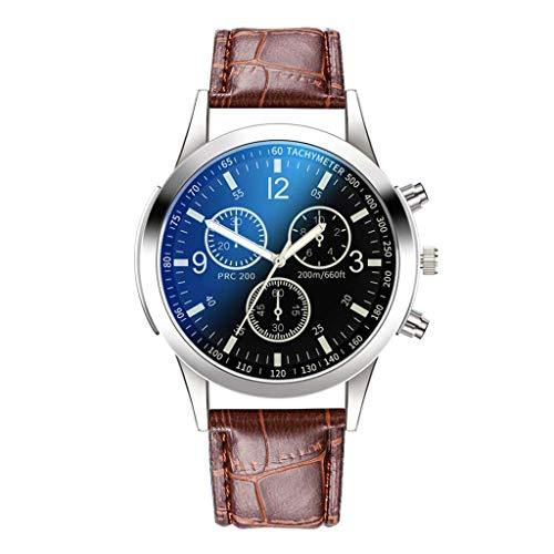 Herren Luxusuhren Quarzuhr Edelstahl Zifferblatt Casual Geschäft Uhren Armbanduhr, D