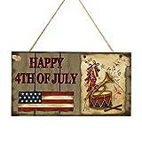 BESPORTBLE Amerikanische Unabhängigkeitstag Holztafel Amerikanische Flagge Muster Rechteck Hängendes Brett Hauptdekoration 4. Juli für Handwerk Wandverzierung Dekoration