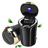 globalstore ashtray for car, portable car ashtray with lid, smokeless ashtray detachable car