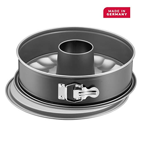 Kaiser Springform Pan with 2 Bases, Stainless Steel Black, 28 cm