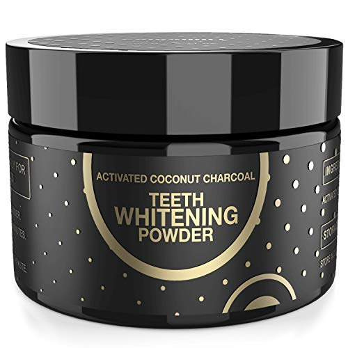 Charcoal Teeth Whitening Activated Charcoal Powder, Proven Safe for Enamel Natural Coconut Charcoal Powder 2.11 oz Whitening Teeth Easy suitable for Toothpaste and Kit