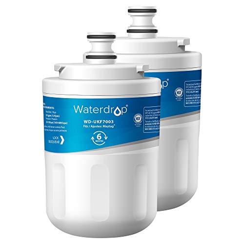 Waterdrop 2X UKF7003 Kühlschrank Wasserfilter, Kompatibel mit Samsung Maytag UKF7003, UKF7003AXX, UKF7003AXXP, UKF7002AXX, UKF7001AXX, UKF7001, 7001, UKF6001AXX, UKF6001, UKF5001AXX, Whirlpool EDR7D1