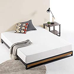 Zinus Suzanne Metal and Wood Low Profile Platform Bed Frame