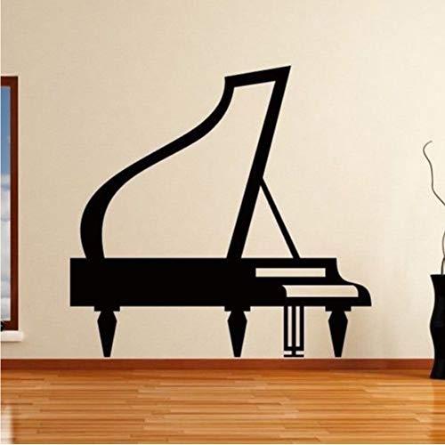 Grand Piano Wandaufkleber Für Instrument Shop Hintergrund Kunst Dekoration Vinyl Wandtattoos Wohnzimmer Home Poster Murals 57 * 59 Cm