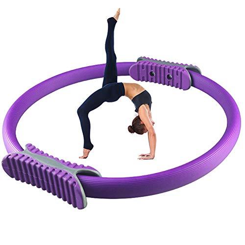 iSunFun Pilates Ring, Oberschenkeltrainer Body Sculpt Resistance Beintrainer mit rutschfestem Griff, Pilatesring für straffende Oberschenkel, Bauch und Beine, Dicke 3 cm, Durchmesser 37 cm