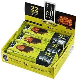 Barras de Proteína Fibo sabor Chocolate con 24 barras de 65g c/u con 22g de proteína