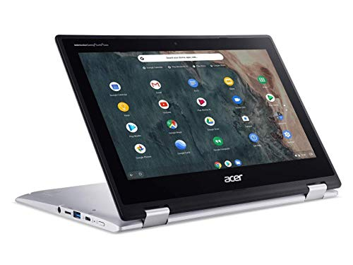 Acer Chromebook Spin 311 11.6' HD LED-Backlit IPS Touchscreen 2 in 1 Convertible Laptop, Intel Celeron N4000, 4GB DDR4, 64GB eMMC, WiFi, Bluetooth, Webcam, USB-C, Chrome OS, 32GB ABYS Micro SD Card
