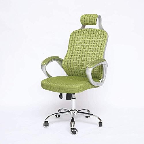 Tägliche Ausrüstung Bürostuhl mit Rückenstütze Grüne Farbe Kissen Mesh Drehstuhl Home Office Stuhl Computerstuhl Home Stuhl Rennstuhl Schlafsaalstuhl Offico Stuhl Bequeme und gesunde Taille Unterst