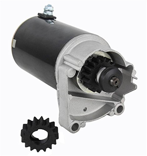 Rareelectrical New High Torque Starter Compatible With V Twin Cylinder Hd Briggs & Stratton 498148 497596 Free Gear By Part Numbers 399928 495100 498148