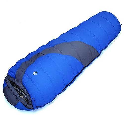 Patronen Wandelen Reizen Camping Splicing 1.65KG Oranje/blauw Katoen Slaapzak winter slaapzak