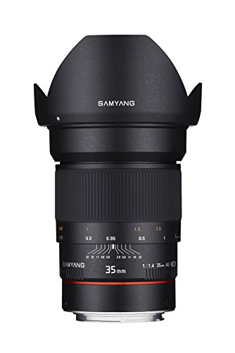 Samyang SYAE35M-C 35mm F1.4 Aspherical Lens with Chip for Canon AE/EF-S Cameras