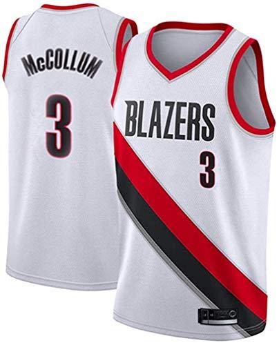 WSWZ Camisetas De La NBA para Hombre - Blazers NBA 3# C.J. Mccollum Camiseta De Baloncesto - Chalecos Cómodos Casuales Camisetas Deportivas Camisetas Sin Mangas,B,XL(180~185CM/85~95KG)