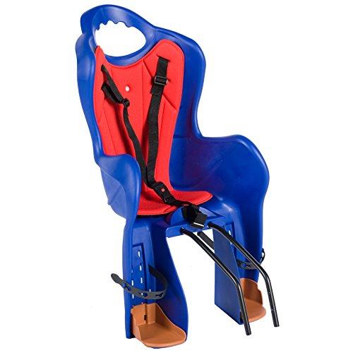 Kinder Fahrradsitz Blau Rot Fahrradkindersitz Kindersitz TÜV EN 14344