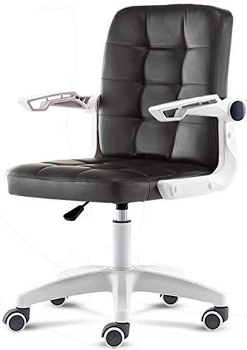 Sillas de Oficina Silla ergonómica de sillas de Oficina, Silla de computadora para Estudiantes, Silla giratoria de Oficina Simple (Color : Black)
