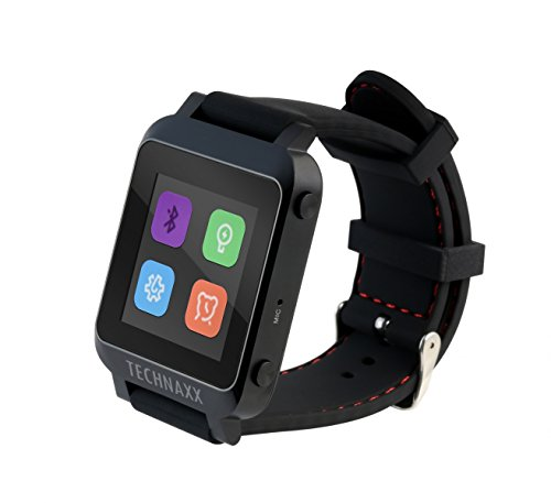 Technaxx TX-26 Smart Handy-Uhr (3,9 cm (1,5 Zoll) Display, Bluetooth)