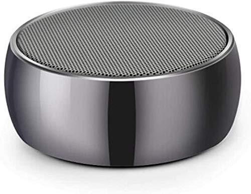 Mopoq Drahtlose Bluetooth-Lautsprecher - bewegliche Mini-Karte Kleiner Ton Metall Kanone Subwoofer-Computer Externer Musik-Player-Auto-Lautsprecher (Color : EIN)
