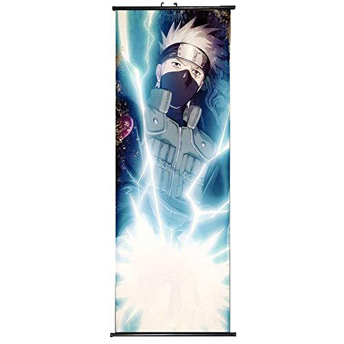 ALTcompluser Anime Naruto Rollbild/Kakemono Wallscroll Dekorative Wandbild Stoff Poster Hängendes Plakat, Wand Zimmer Deko(Hatake Kakashi)