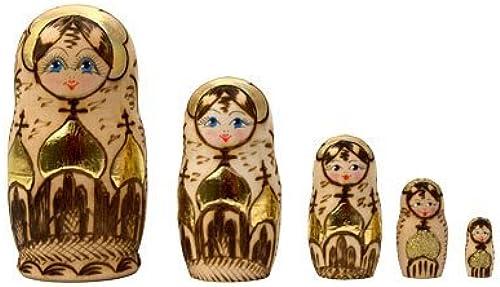 venta Woodburned Church Russian Nesting Nesting Nesting Doll 5pc. 4 by oroen Cockerel  Hay más marcas de productos de alta calidad.