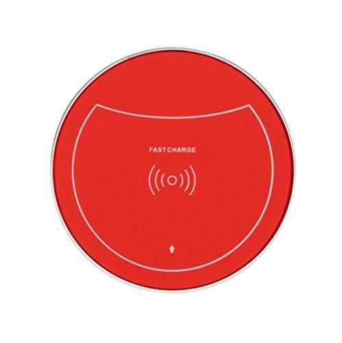Portable sans fil de charge pour Samsung Galaxy S9/S9 Plus, Mamum Charge Qi sans fil Support de charge station d'accueil pour Samsung Galaxy S9/S9 Plus Taille unique Red