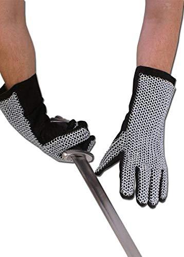 Battle-Merchant Fingerhandschuhe mit Kettengeflecht, ID6mm, unbehandelt Kettenhandschuhe Kettenhemd Kettenhaube