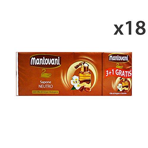 Set 18 Mantovani zeep Argan X 3 + 1 stuk 100 gr. Zeep en cosmetica.