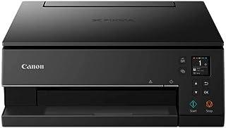 Canon PIXMA TS6350 Drucker Farbtintenstrahl Multifunktionsgerät DIN A4 (Fotodrucker, Scanner, Kopierer, OLED, 4.800x1.200 dpi, USB, WLAN, 5 separate Tinten, Duplexdruck, 2 Papierzuführungen), schwarz