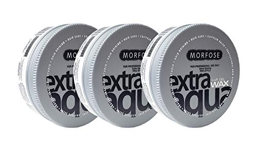 Morfose Extra-Shinning Pro Aqua Hair Gel Wax 5.92 fl oz - 3 Pack