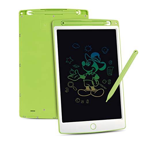 Upgrow LCD Writing Tablet, 10 Zoll LCD-Schreibtafeln mit Bunter Schrift, Grafiktabletts Schreibplatte Digital Schreibtafel Papierlos Maltafel für Kinder Schule Graffitik Malen Notizen (Grün+Weiß)