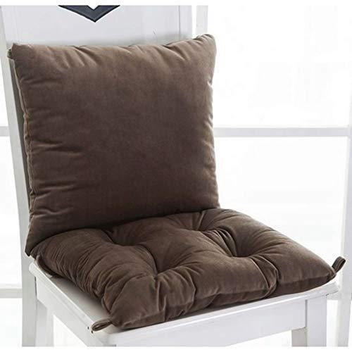 LLLD Cojín acolchado para tumbona, 100% algodón de pana grueso, desmontable, con correas, antideslizante, acolchado para jardín, cocina, comedor, sillas (color: marrón, tamaño: 40 x 80 cm)