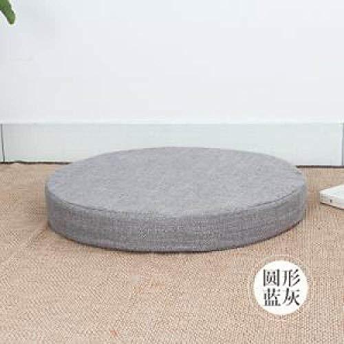 FKIHK SitzkissenJapanischen Stil flüssigkeit futon Kissen piaochuang Reparatur Sitz verdickung Kreis Boden Tatami Kissen, 156669 grau, Dia40cm H6cm
