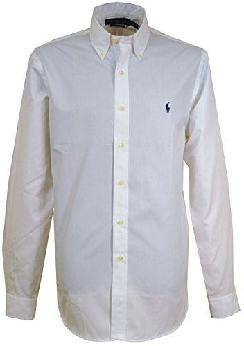 Ralph Lauren - Chemise casual - Col Boutonné - Homme - Blanc - Large