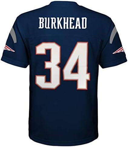 Rex Burkhead New England Patriots #34 Navy Youth 8-20 Mid Tier Home Jersey