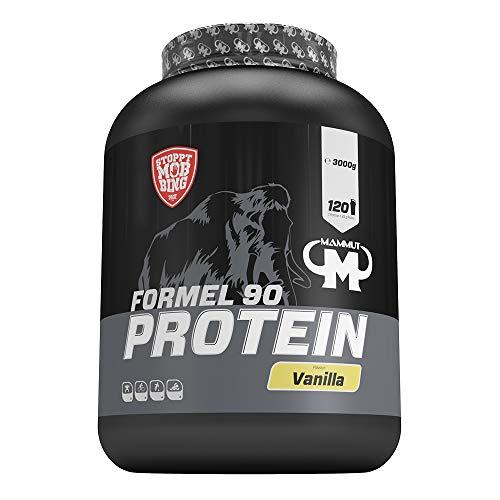 Mammut Formel 90 Protein, Vanilla, Protein Shake, 4 Komponenten Protein: Soy, Milk, Whey & Egg Protein, 3000 g Dose